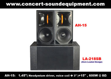 "600W Concert Sound Equipment , 1.4"" + 15"" Full Range Speaker For Show , Conference , Living Event And DJ"